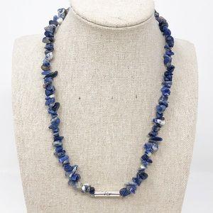 Natural Sodalite Gemstone Joy Strand Necklace